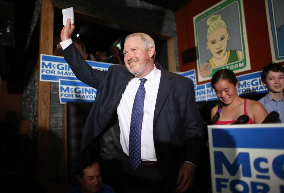 Seattle Mayor Mike McGinn --- at 95 Slide in Seattle's Capitol Hill neighborhood on Thursday, August 6, 2013. The first round of election returns had McGinn still in the race with Senator Ed Murray for Seattle Mayor. Photo: JOSHUA TRUJILLO, SEATTLEPI.COM