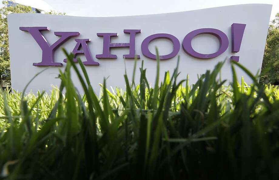 Yahoo's 30 days of change promotion aims to draw attention to the introduction of its new logo. Photo: Paul Sakuma, Associated Press