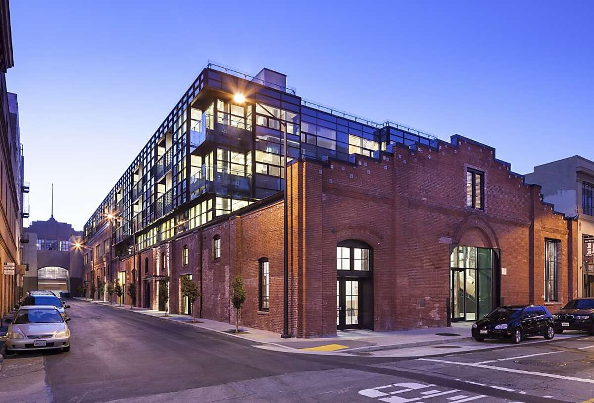 The addition of a contemporary glass structure to an 1888 brick factory at 178 Townsend St. is among the subjects of a new exhibition on historic preservation at the SPUR Urban Center Gallery.