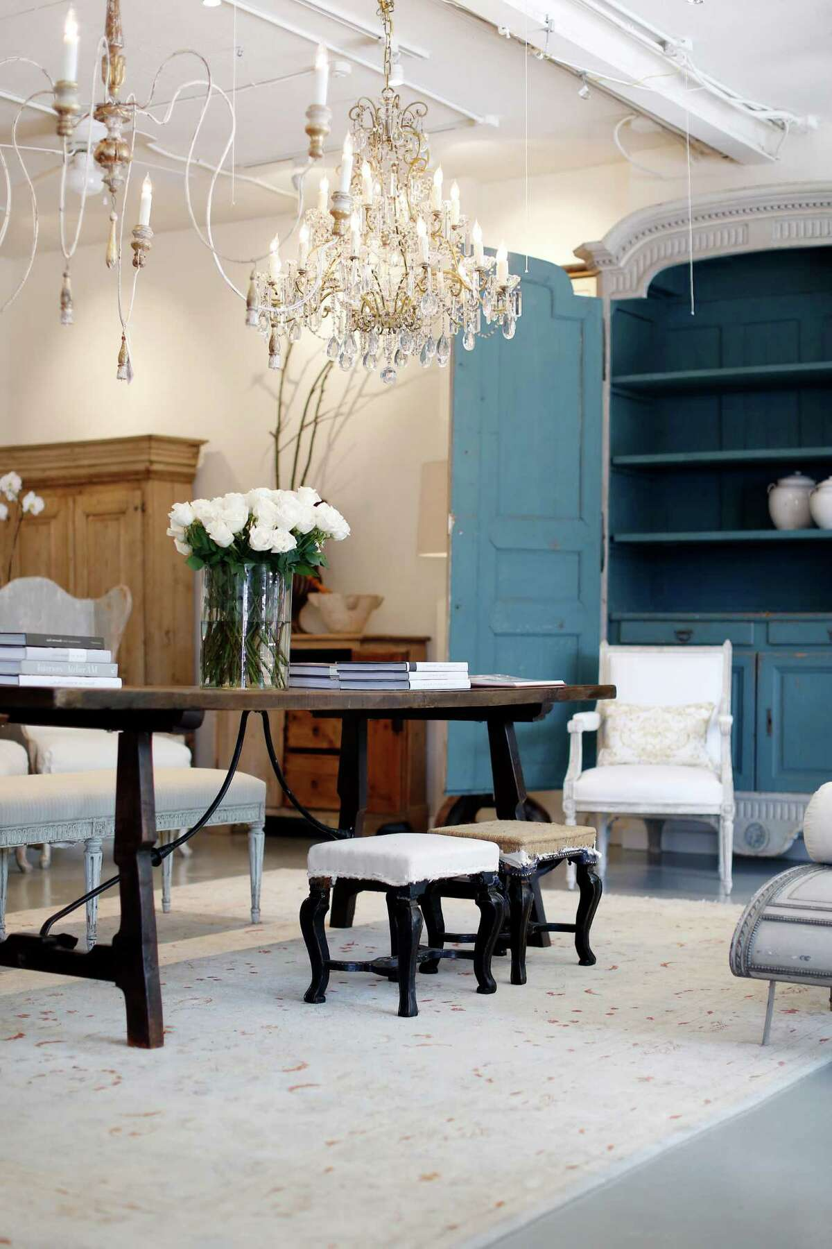 The newly revamped J. Nash Antiques features 18th- and 19th-century French and Swedish furniture, the latter mostly from the Gustavian period.