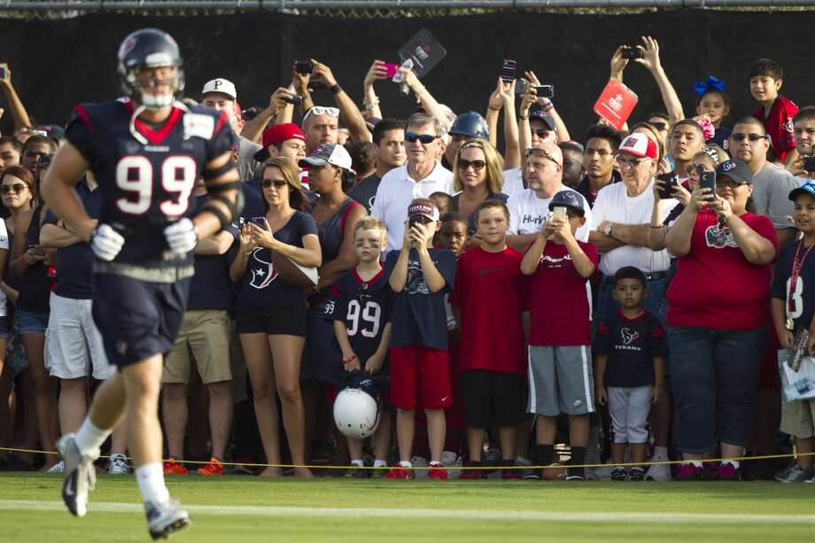 Fans watch practice on Wednesday. Photo: Brett Coomer, Chronicle