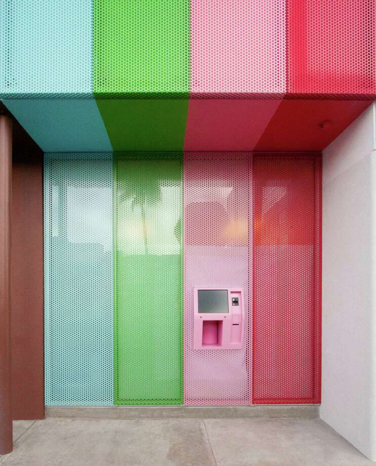 Sprinkles holds a trademark on the term Cupcake ATM. It opened the first 24-hour cupcake machine last year at its flagship store in Beverly Hills. Houston's Cupcake ATM is expected to arrive in October. Photo: Courtesy Photo / company