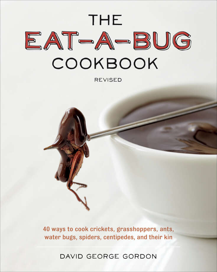"Why eat bugs? They're plentiful, nutritious and cheap to raise (unlike cattle), says ""Eat-a-Bug Cookbook"" author David George Gordon. And tasty, too, he says, attributing a ""pesto-like flavor"" to hornworms and a ""mushroomy"" essence to mealworms. Gordon has long been a champion of ""creepy, crawly"" animals, which he's indulged with previous books on snail sex and cockroach pets. But his soft spot for uncuddly ""underdogs"" hasn't stopped him from frying and eating them.Image reprinted with permission from ""The Eat-a-Bug Cookbook,"" by David George Gordon, Ten Speed Press, 2013.  Photo: -"