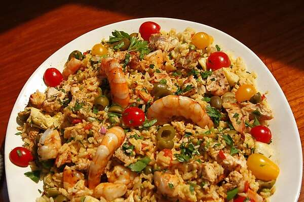Paella Salad for South to North column by Jacqueline Higuera McMahan