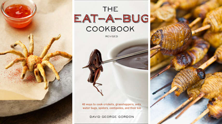"""Forget being a vegetarian. The latest food fad involves eating bugs and full-throttled carnivorism, from wing to exoskeleton. Since recipes probably help, it's a good thing Seattle science writer David George Gordon has recently revised his book, """"The Eat-a-Bug Cookbook: 40 Ways to Cook Crickets, Grasshoppers, Ants, Water Bugs, Spiders, Centipedes, and their Kin."""" """"Now you  can impress, enlighten, and entertain your family and friends with  Gordon's one-of-a-kind recipes,"""" says Amazon's description. """"Spice things up at the next neighborhood  potluck with a big bowl of Orthopteran Orzo - pasta salad with a  cricket-y twist.""""Click through the photos for recipes, a look at insect cuisine around the world, and how you can try Gordon's cricket kebobs.  Visit seattlepi.com's for more Seattle news and follow us on Facebook. You can find Vanessa Ho on Twitter and Google+, and email her at vanessaho@seattlepi.com.   Photo: -"""