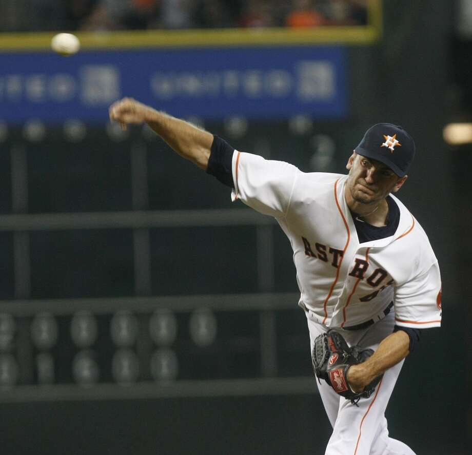 August 7: Red Sox 7, Astros 5  Astros starting pitcher Jarred Cosart throws in the first inning. Photo: Johnny Hanson, Houston Chronicle