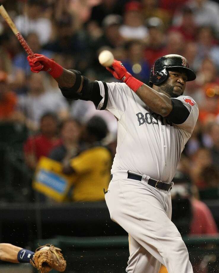 Red Sox designated hitter David Ortiz fouls off a ball in the fourth inning. Photo: Johnny Hanson, Houston Chronicle