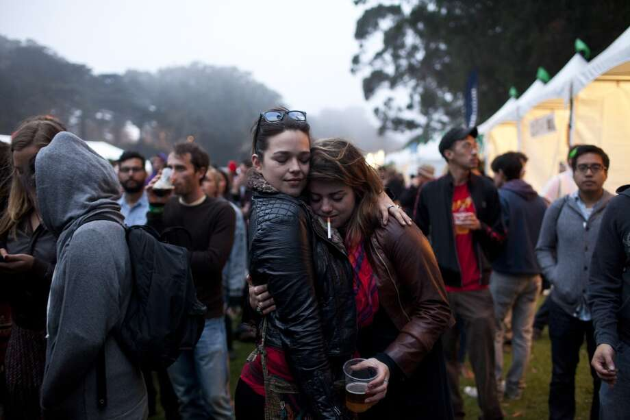 LAYERS. It's San Francisco, so it'll probably be cold, but it's a concert so be prepared for temperatures to rise. The closer the crowd, the warmer the audience. When that doesn't work, find a cuddle buddy and don't let go like losing an appendage to frost bite depends on it (and it might). Photo: Jason Henry, Special To The Chronicle