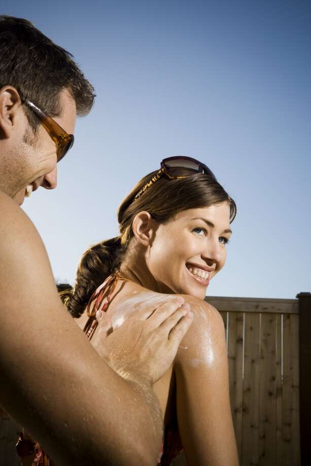 SUNSCREEN. In deceptively foggy territory, the Sunset's clouds are not an adequate visor. Get grease-less SPF or get charred. Photo: Rubberball, Getty Images/Rubberball
