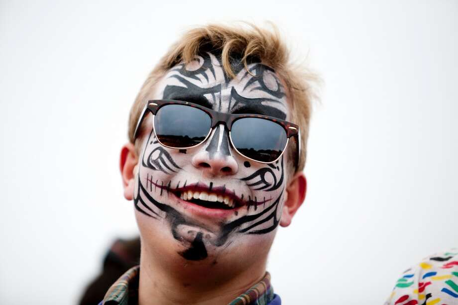 Face paint: it's not just for the Raider Nation any more. Photo: Jason Henry, Special To The Chronicle