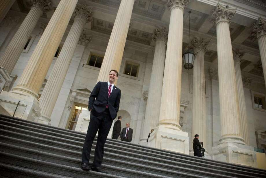 Congressman Jim Himes, stands on the steps of the U.S. Capitol before his first day in the 111th Congress in Washington, D.C., on Tuesday, Jan. 6, 2008. Photo: File Photo / Greenwich Time File Photo