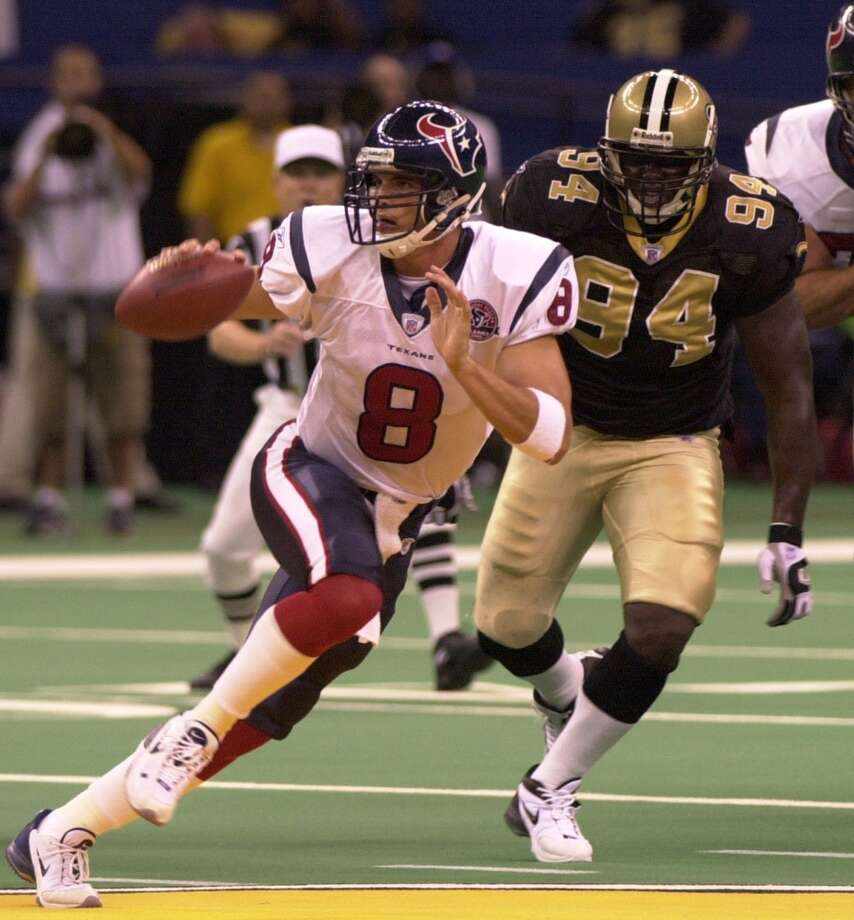 2002Aug. 10: Texans 13, Saints 10The first win in franchise history came against the Saints in the Superdome in the second preseason game in franchise history. Photo: Andrew J. Cohoon, Associated Press