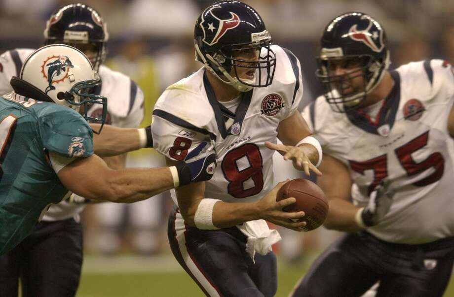 2002Aug. 24: Dolphins 24, Texans 3The Texans failed to score a touchdown in the first game played in Reliant Stadium, which ended up being a lopsided loss to the Dolphins. Photo: Smiley N. Pool, Houston Chronicle