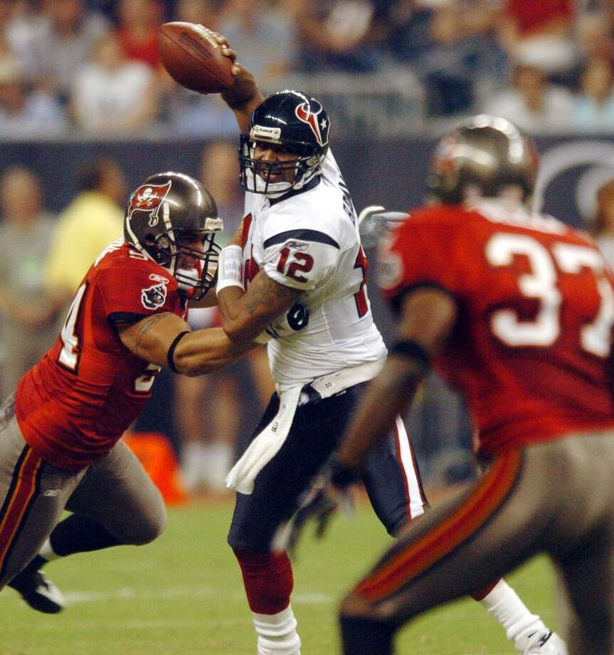 2004Sept. 2: Buccaneers 17, Texans 92004 preseason record: 1-3With backup quarterback Tony Banks running the offense, the Texans couldn't muster a touchdown against Tampa Bay. Photo: Christobal Perez, Houston Chronicle