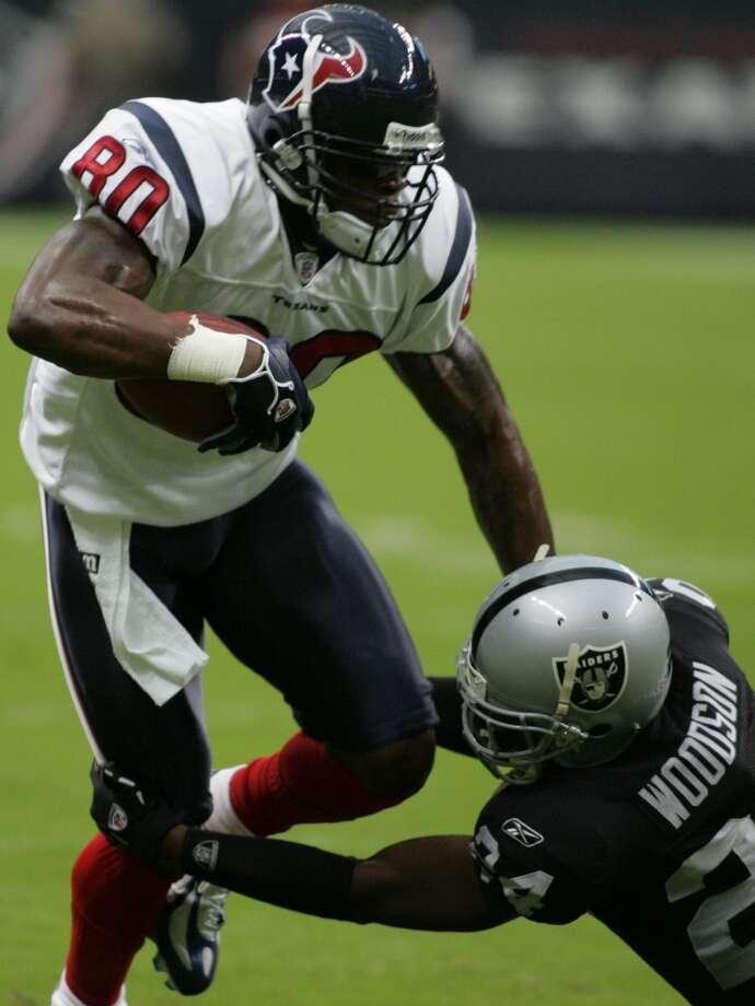 2005  Aug. 20: Texans 19, Raiders 17  Three Kris Brown field goals and one David Carr touchdown were enough for the Texans to beat Oakland at Reliant Stadium. Photo: Steve Ueckert, Houston Chronicle