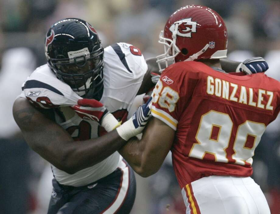 2006  Aug. 12: Texans 24, Chiefs 14  Balanced scoring seemed to be a rarity for the Texans in the majority of their preseason contests. Some unexpected consistency helped down Kansas City. Photo: Brett Coomer, Houston Chronicle