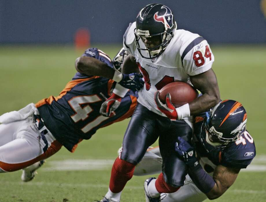 2006  Aug. 27: Broncos 17, Texans 14  The Texans rallied from a 10-point deficit in the fourth quarter, but Denver held on for the victory. Photo: Brett Coomer, Houston Chronicle