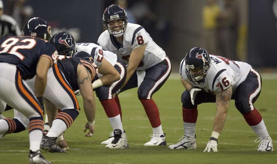 2007  Aug. 11: Bears 20, Texans 19  Houston had a 19-7 lead in the fourth quarter but Chicago rallied to steal a win. Photo: Brett Coomer, Houston Chronicle