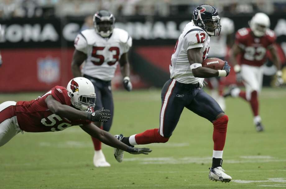2007  Aug. 18: Texans 33, Cardinals 20  Houston's 13-point lead at halftime translated into a victory over Arizona by the same margin. Photo: Brett Coomer, Houston Chronicle