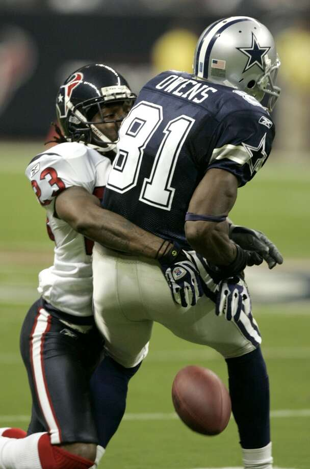 2007  Aug. 25: Texans 28, Cowboys 16  Matt Schaub and Andre Johnson outdueled Tony Romo and Terrell Owens. Jacoby Jones also had a special teams and receiving touchdown. Photo: Brett Coomer, Houston Chronicle