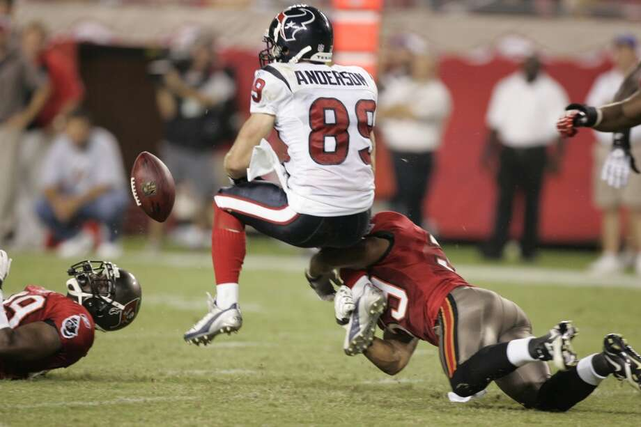 2007  Aug. 30: Buccaneers 31, Texans 24  2007 preseason record: 2-2  Tampa Bay broke a tie in the fourth quarter to send the Texans' preseason mark to .500 Photo: Brett Coomer, Houston Chronicle