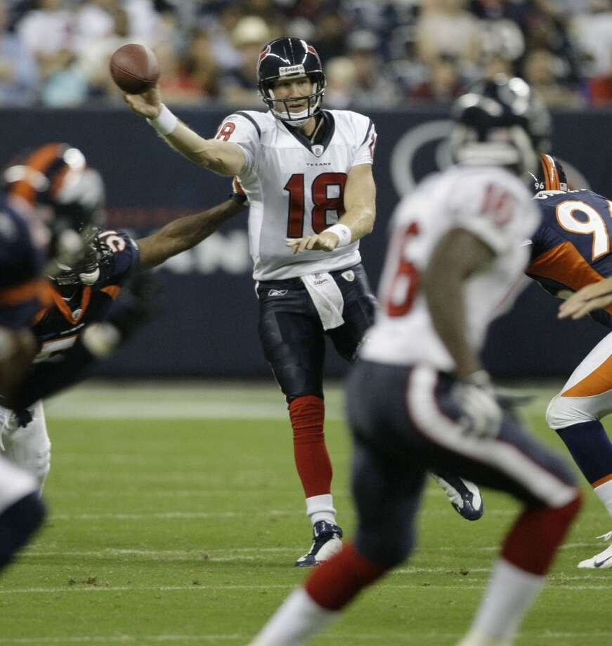2008  Aug. 9: Texans 19, Broncos 16  Kris Brown nailed a 25-yard field goal as time expired to a slim three-point victory. Photo: Brett Coomer, Houston Chronicle