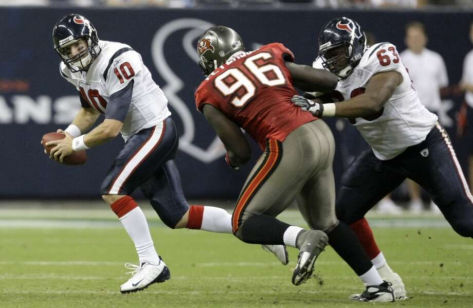 2008  Aug. 28: Buccaneers 16, Texans 6  2008 preseason record: 2-2  Another outcome decided by halftime. Houston was shut out in the final two quarters. Photo: Brett Coomer, Houston Chronicle