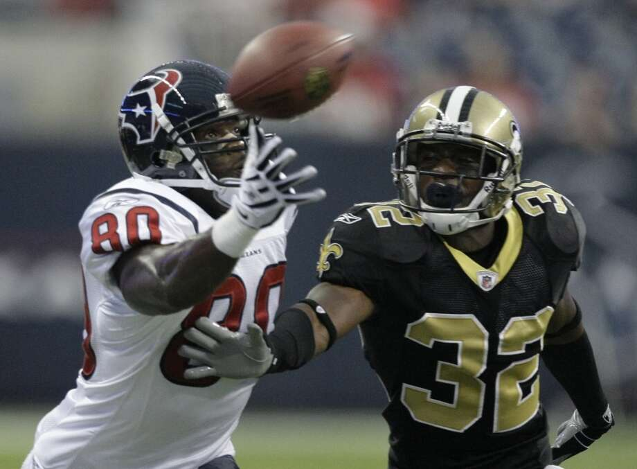2009  Aug. 22: Saints 38, Texans 14  New Orleans had 420 total yards as they seemed quite comfortable in Reliant Stadium. Photo: Brett Coomer, Houston Chronicle