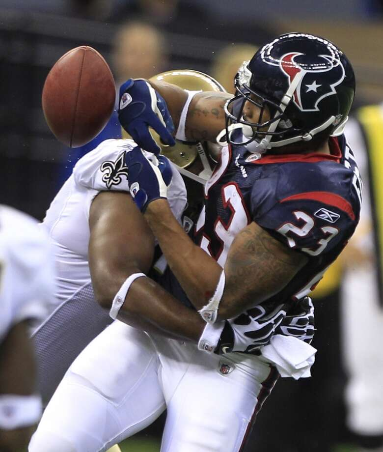 2010  Aug. 21: Saints 38, Texans 20  Two touchdowns and two field goals by Houston were severely outmatched by New Orleans. Photo: Brett Coomer, Houston Chronicle