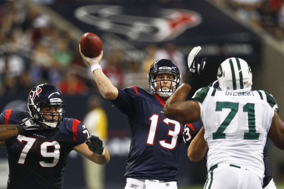 2011  Aug. 15: Texans 20, Jets 16  Texans running back Chris Ogbonnaya scored the go-ahead touchdown with 1:56 in the fourth quarter. Photo: Michael Paulsen, Houston Chronicle