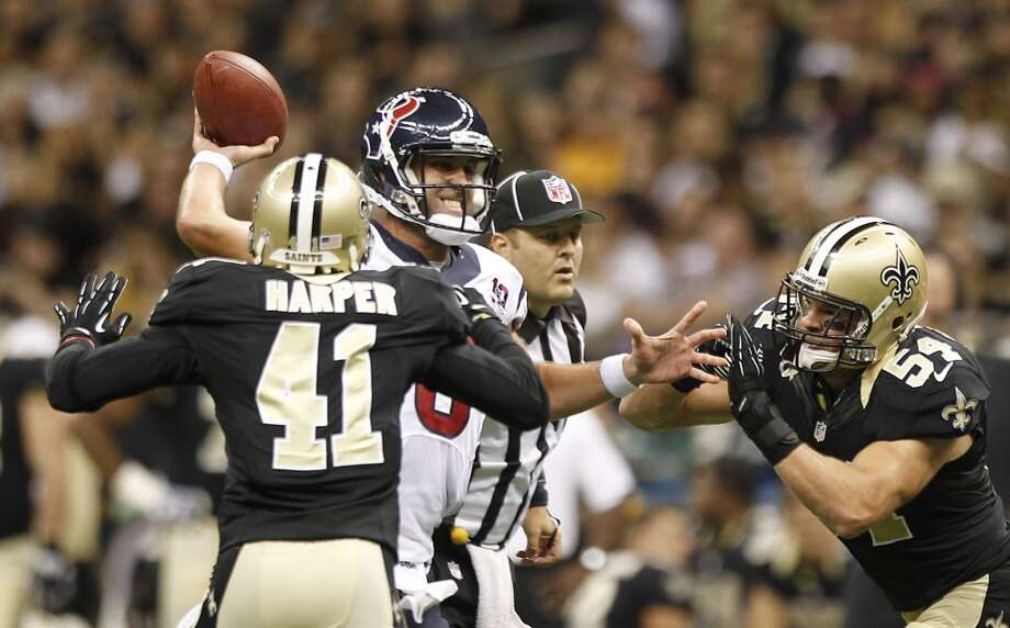 2012  Aug. 25: Saints 34, Texans 27  New Orleans survived this shootout with a late touchdown in the fourth quarter. Photo: Brett Coomer, Houston Chronicle