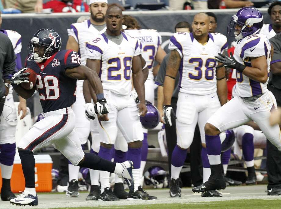 2012  Aug. 30: Texans 28, Vikings 24  2012 preseason record: 3-1  The Texans would have gladly traded this win for their late-season loss to Minnesota. Photo: Cody Duty, Houston Chronicle