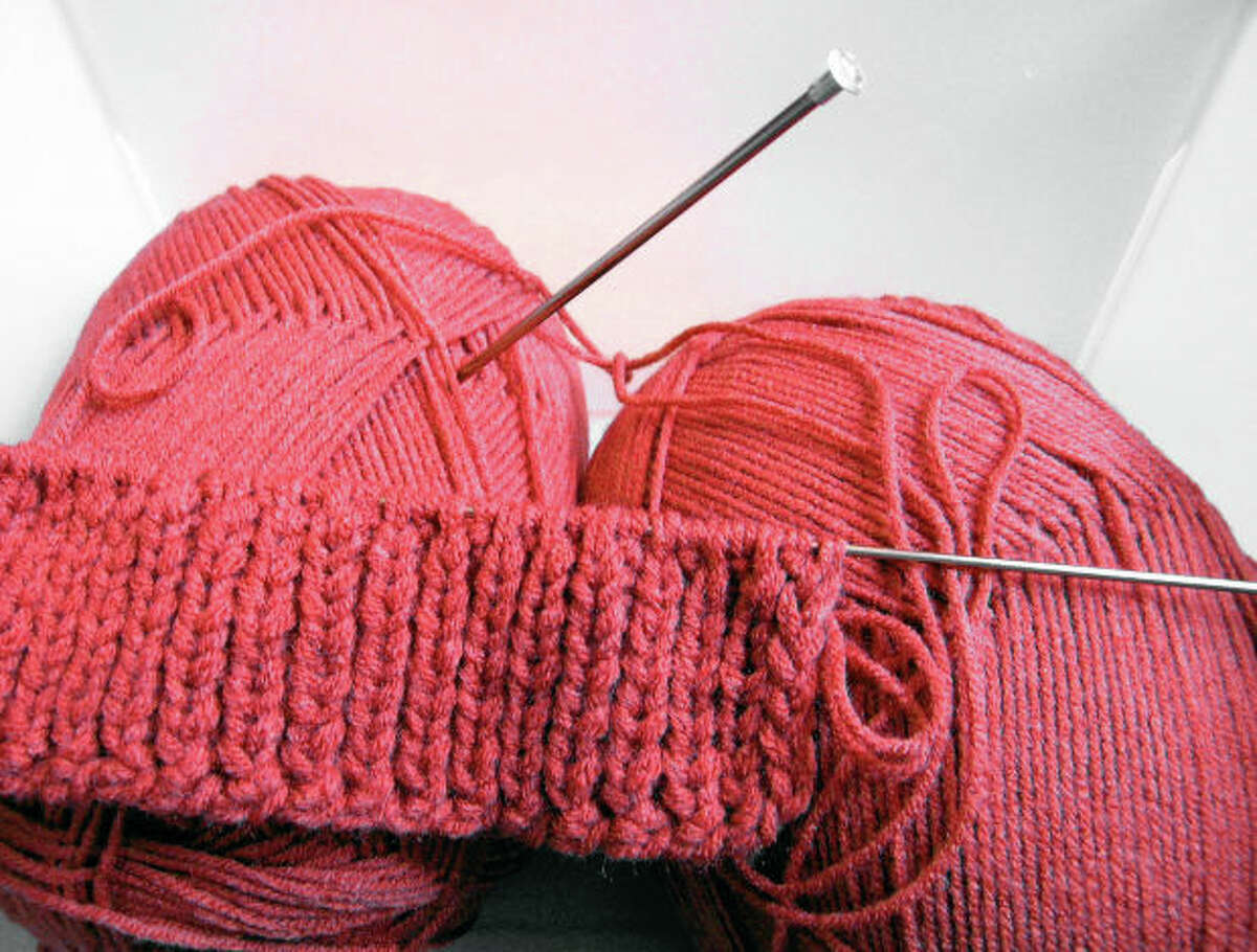 Barbara Bush Branch Library will host a knitting group, during which attendees can make their own projects or use the library's yarn to make lap blankets for veterans.