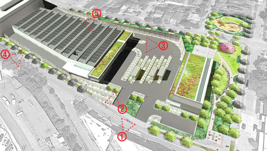 Seattle Public Utilities has applied to build a new North Transfer Station, to replace the existing station, at 1350 N. 34th St., in Wallingford.The new station would be bigger, while adding a recycling and reuse center, a park and other public areas, including a viewing room. The plan calls for vacating Carr Place North, between North 34th and 35th streets. Photo: Seattle Public Utilities