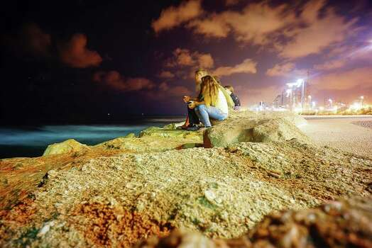 Tel Aviv, Israel. This summer I had the opportunity to go on Birthright, a free trip for those who grow up Jewish and would like to go to Israel and learn more about the country and Judaism. This photo was taken just above a beach in Tel Aviv on our group's last night there.