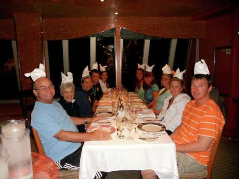 Carnival Magic...dinner came with nice clean party hats every night!