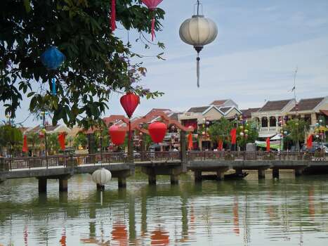 Lantern Bridge in Hoi An, Vietnam.  It was my first time back to my homeland after escaping in 1975.