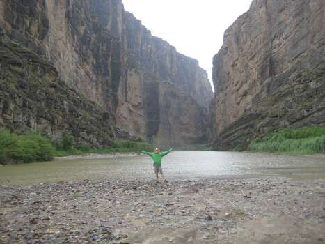 This photo was taken at the Santa Elena Canyon in Big Bend National Park.  During the first week of July, two friends and I took a 1,500 mile road trip through Texas.  We saw parts of the state I never knew existed.  We were blessed with the best weather imaginable...65 degrees at night in the Chisos Mountains.  In this photo, the canyon walls on the right are in Texas; and the left, in Mexico.  The proximity to the border is mystifying and a feeling you can only experience down in the muddy waters of the canyon.  I recommend a trip out to Big Bend for any adventure seeker!