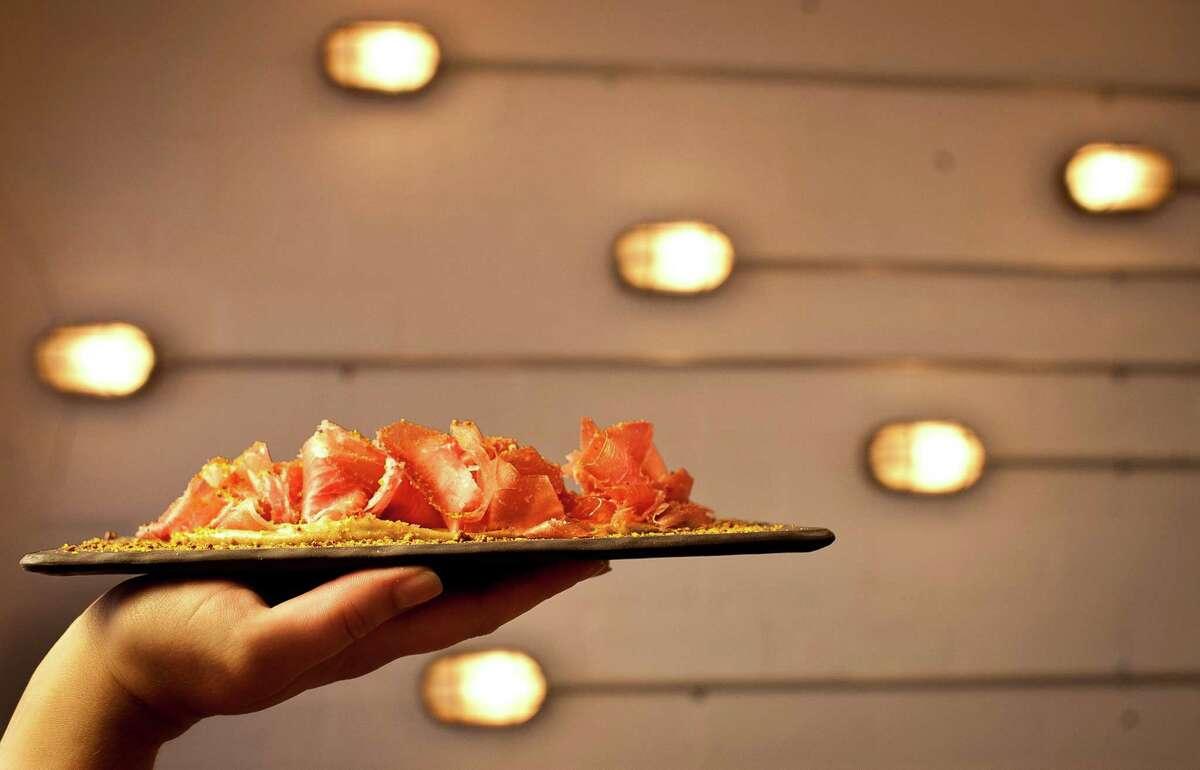 The Pass & Provisions' Ham 'o' Day: La Quercia ham with rye aioli, Tuesday, Sept. 11, 2012, in Houston. ( Nick de la Torre / Houston Chronicle )