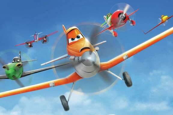 "Dusty Crophopper (voiced by Dane Cook) goes on an around-the-world adventure in ""Planes."""