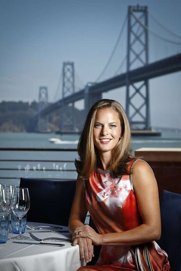 Kyri McClellan, CEO of America's Cup Organizing Committee and project manager in the mayor's office, at Waterbar in San Francisco. Photo: Russell Yip, The Chronicle