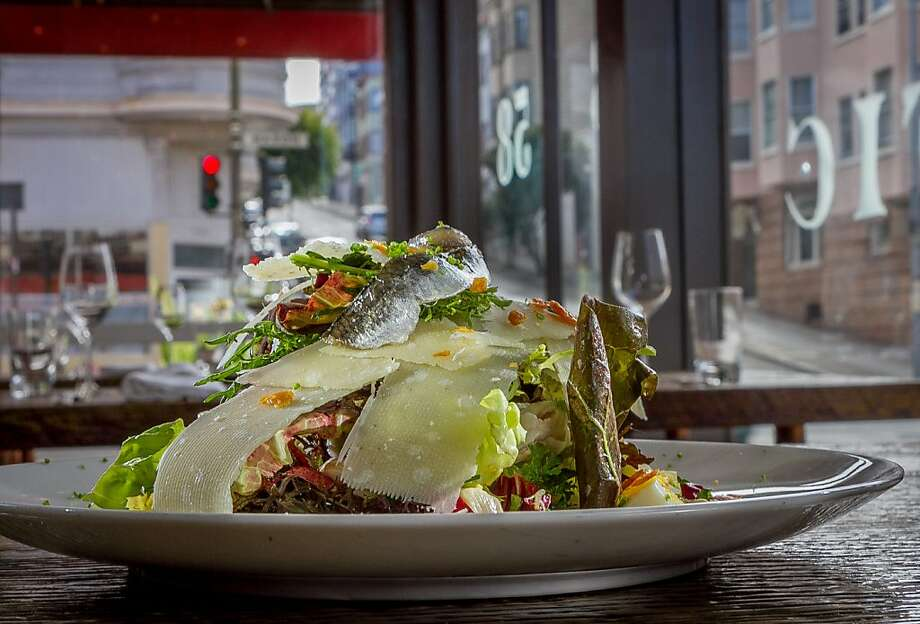 Mason Pacific's Petite Lettuces, with egg, anchovies and Parmesan, is everything you expect in a California salad. Photo: John Storey, Special To The Chronicle