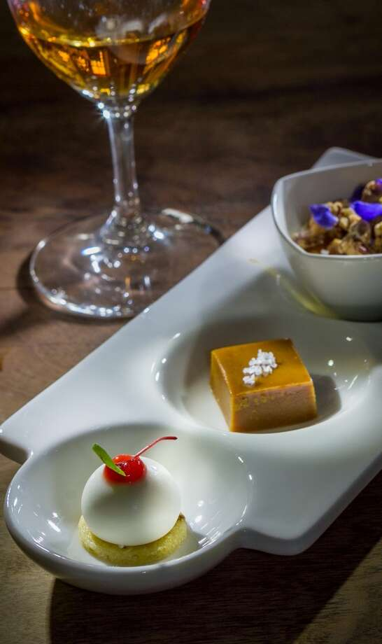 The Dessert Trio paired with a Grand Reserve Late Harvest Chardonnay at  with Partake by K-J in Healdsburg. Photo: John Storey, Special To The Chronicle