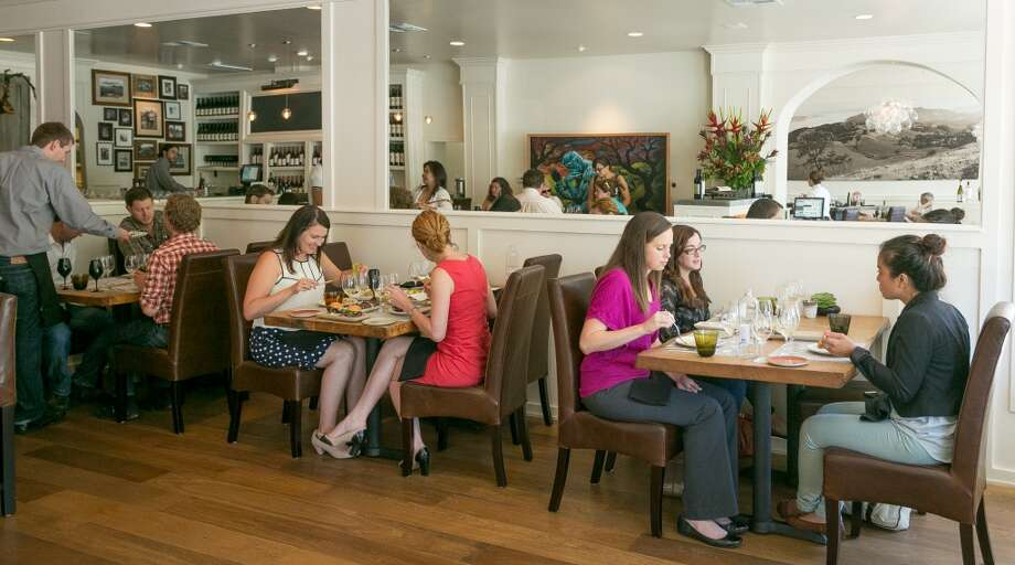 People enjoy lunch at Partake by K-J in Healdsburg. Photo: John Storey, Special To The Chronicle