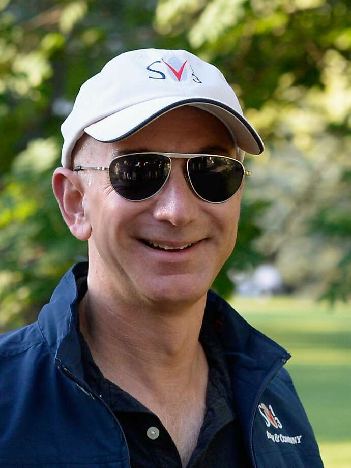 Jeff Bezos, founder and CEO of Amazon.com, struck a deal to buy the Washington Post for $250 million. Photo: Kevork Djansezian, Getty Images
