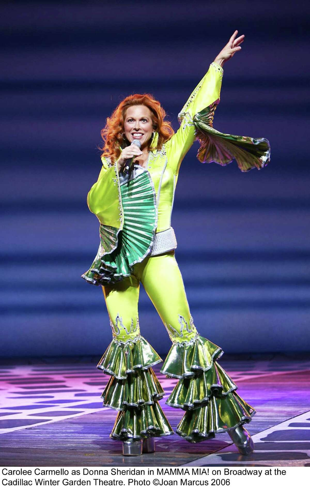 University at Albany alum Carolee Carmello, performing as Donna Sheridan in Mamma Mia! on Broadway, returns to the Capital Region on Sept. 24 for a performance at the UAlbany Performing Arts Center. (Photo courtesy of UAlbany)
