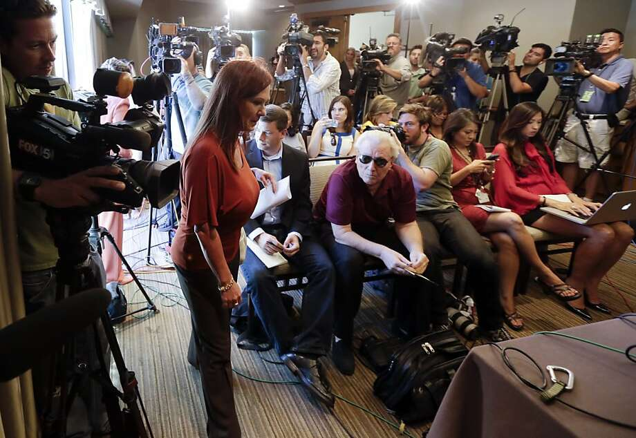 Michelle Tyler said she was the victim of inappropriate  sexual behavior by San Diego Mayor Bob Filner. Photo: Gregory Bull, Associated Press