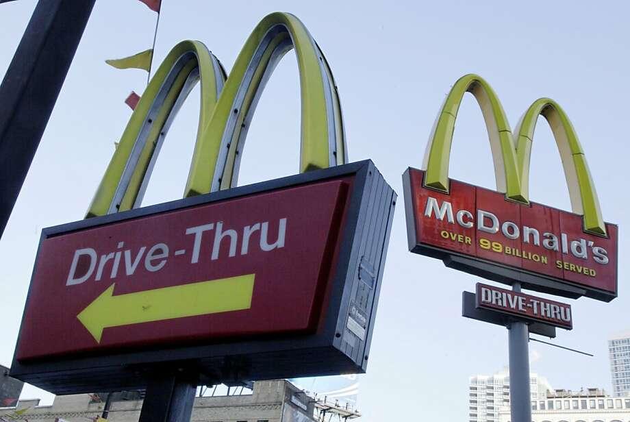 McDonald's Photo: Richard Drew, Associated Press
