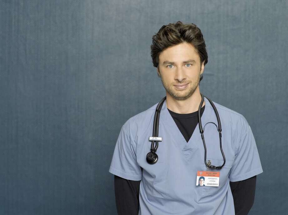 Zach Braff played the sometimes annoying, self-doubting Dr. John 'J.D.' Dorian on the popular medical sitcom 'Scrubs.  Photo: Bob D'Amico, ABC Via Getty Images