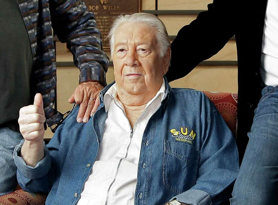 FILE - In this April 10, 2013 file photo, Jack Clement poses for photographers in the Country Music Hall of Fame in Nashville, Tenn. Clement, a producer, engineer, songwriter and beloved figure who helped birth rock 'n' roll and push country music into modern times, died Thursday morning, Aug. 8. He was 82. Clement's career included stops in Memphis at Sun Records where he discovered Jerry Lee Lewis and Nashville where he was a close collaborator of Johnny Cash, Charley Pride and fellow 2013 Country Music Hall of Fame inductee Bobby Bare. Photo: Mark Humphrey
